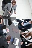 najlepszy widok biznes drużyna trzyma odprawę Zdjęcie Stock