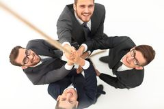 najlepszy widok biznesu drużynowy pięcie arkana Fotografia Stock