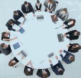 najlepszy widok spotkanie udziałowowie firma przy zdjęcie royalty free