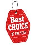 Najlepszy wybór rok metka lub etykietka Obraz Royalty Free