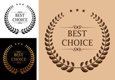Najlepszy wyborowy emblemat Fotografia Stock