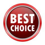 Najlepszy Wyborowy round kruszcowy czerwony guzik Obraz Royalty Free