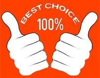 najlepszy wyborowy symbol Zdjęcia Royalty Free