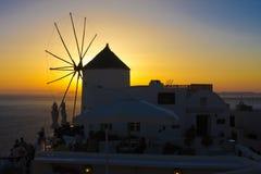 Najlepszy zmierzchu widok w Santorini wyspie Zdjęcia Stock