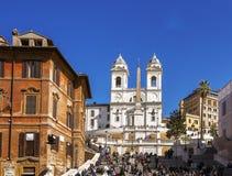 najlepszych komesów wczesny sławny ranek Rome widzieć spanish kroczy słońce widzieć Obraz Stock