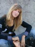 najpiękniejsza dziewczyna na ściany potomstwom stiuku Zdjęcie Stock