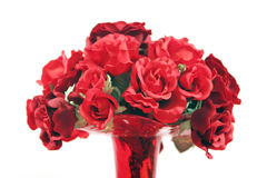 najpiękniejsze czerwone róże wazowe Zdjęcia Stock