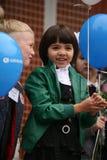 najpierw dzwoni Wrzesień 1, wiedza dzień w rosjanin szkole Dzień wiedza pierwszy dzień szkoły Obrazy Royalty Free