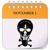 Najpierw Listopad - dzień nieboszczyk ilustracja wektor