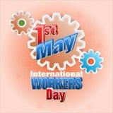 Najpierw May Międzynarodowi pracownicy dni, świętowanie ilustracja wektor