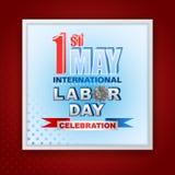 Najpierw May Międzynarodowy święto pracy, świętowanie royalty ilustracja