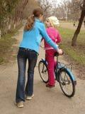 najpierw na rowerze obraz stock