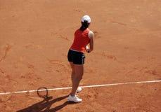 najpierw tenis serve Obrazy Stock