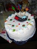 najpierw tort urodzinowy Zdjęcie Stock