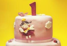 najpierw tort urodzinowy Obraz Stock