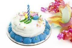 najpierw urodzinowy tort Zdjęcia Stock