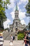 Najswietszej Rodziny kyrka i Zakopane Arkivfoto
