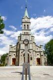 Najswietszej Rodziny kyrka i Zakopane Royaltyfri Fotografi