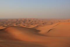 Pustynia Zjednoczone Emiraty Arabskie Zdjęcia Stock