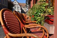 Najwięcej pięknych tradycyjnych wiosek Francja, Colmar w Alsace - zdjęcia royalty free