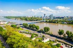 Najwięcej SNP mosta, Bratislava zdjęcie stock