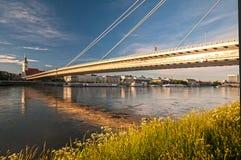 Najwięcej SNP mostu nad rzecznym Danube zdjęcia stock