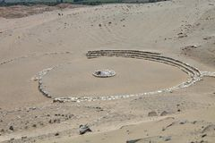 Najwięcej wybitnego archeologicznego miejsca, Caral, Peru obrazy stock