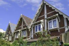 Najwyższe piętro i klasyczni dachowi szczyty w Sydney neighbourhood zdjęcia royalty free