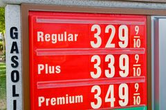 najwyższa cena benzyny Obraz Stock
