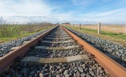 Najwyraźniej niekończący się ośniedziali pociągów poręcze Obrazy Royalty Free