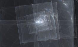 nakładania się kwadratów płytkę srebra Obrazy Royalty Free
