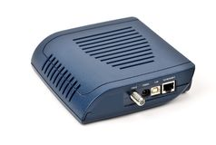 Nakłania modem kablowego zdjęcie royalty free