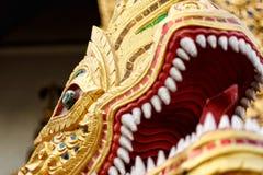 NAK di Phra Ya, singha di phra del wat Immagini Stock Libere da Diritti
