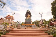 Nak Prok Buddha,statue in Thailand. Royalty Free Stock Photo