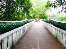 Naka Bridge. A long way of naka Bridge of Kum-Cha-Nod Audontanee thailand stock photography