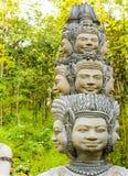 Naka demonu Deva bóg stiuk, Cementowy schodowy krok Obrazy Royalty Free
