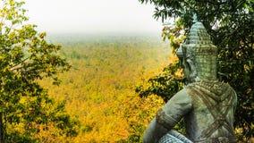 Naka demonu Deva Ged stiuk, Cementowy schodowy krok Zdjęcie Royalty Free