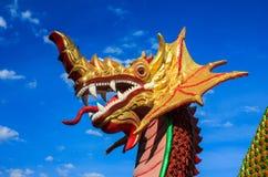 Naka, Dragon. Beautiful architecture Naka head with blue sky Royalty Free Stock Image