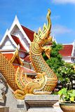 Naka head at Thai temple Royalty Free Stock Photos