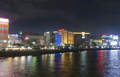 Naka River side in Fukuoka City Royalty Free Stock Image