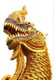 Naka Statue. Naka or Naga Statue at Phra Bard See Roi, Chiangmai Thailand Stock Photography