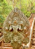 Naka, tempio di Prasat Banan dell'arenaria Fotografia Stock