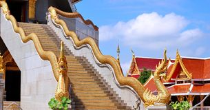 Naka on top staircase balustrade Royalty Free Stock Photo