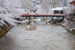 Nakabashi Bridge In Takayama Royalty Free Stock Photos