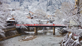 Nakabashi Bridge in Takayama Stock Photos