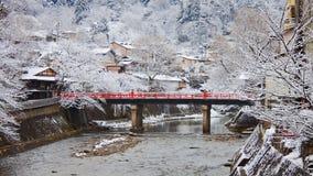 Nakabashi Bridge in Takayama Stock Photos