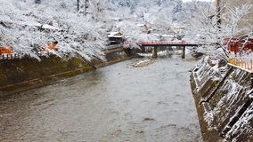 Nakabashi Bridge of Takayama Royalty Free Stock Photography