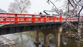 Nakabashi Bridge of Takayama Stock Photos