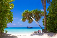 Nakatchafushi Huvafen Fushi atoll island - The Maldives royalty free stock photography