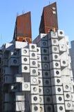 Nakagin胶囊塔在东京,日本 库存图片